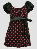 Front - S long black-pink classic top pin up