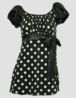 Front - S long black-white classic top pin up