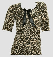 Front - Leopard brown classic top pin up