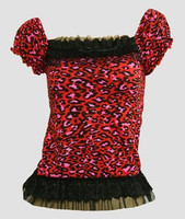 Front - L leopard red classic top pin up