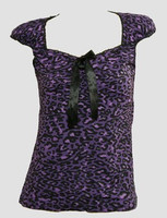 Front - B leopard purple classic top pin up