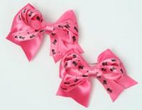 Skull D pink / D pink-black cute baby hair clips pair