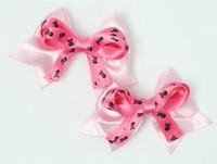 Skull L pink / D pink-black cute baby hair clips pair