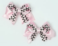 Check L pink / L pink cute baby hair clips pair