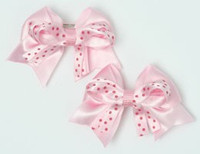 Dot L pink / L pink d-pink cute baby hair clips pair