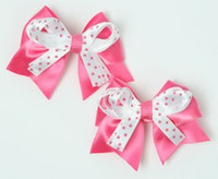 Dot D pink / white-pink cute baby hair clips pair