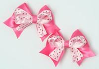 Dot D pink / L pink-D pink cute baby hair clips pair
