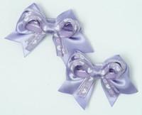 Heart purple cute baby hair clips pair