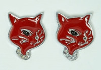 D cat red cute stud