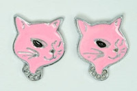 D cat pink cute stud