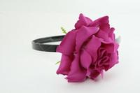 L rose purple big summer flower