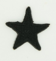 S star black small patch