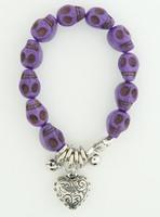 Skull purple skull bracelet