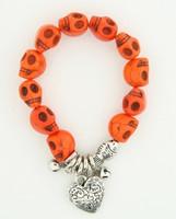 Skull orange skull bracelet