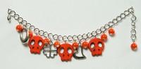 Skull empty orange skull bracelet