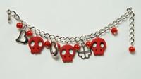 Skull empty red skull bracelet