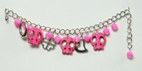 Skull empty pink skull bracelet