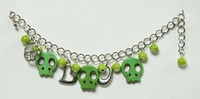 Skull empty green skull bracelet