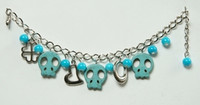 Skull empty blue skull bracelet