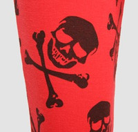 F skull bone red-black fashion legging