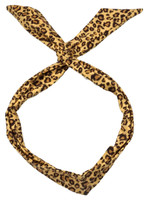 P leopard brown pin up head band