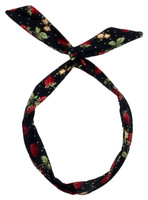 P strawberry black pin up head band