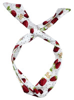 P strawberry white pin up head band