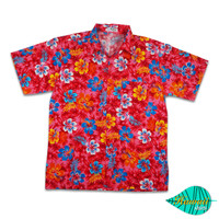 H fullibiscus red hawaii shirt