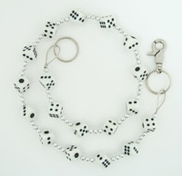 Dice white-black WC 2 wallet chain