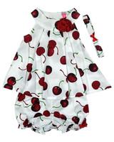 Baby Kid  Set - Cherry White