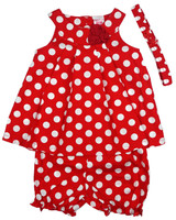 Baby kid set - red dots