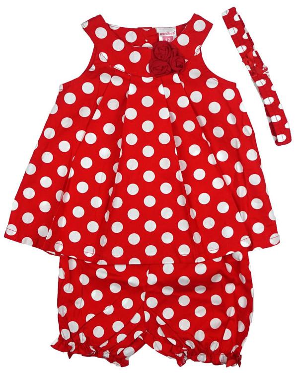 Baby kid set - red dots