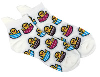 Ducks on beach socks white