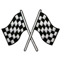 Checkered race flags