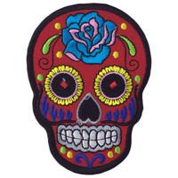 Red skull - ancient aztec