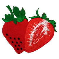 Sweet strawberry red juicy fruit