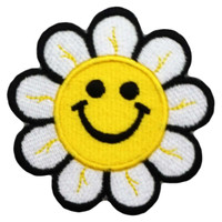 Happy yellow sunflower smiley big patch