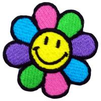 Smiley vivid flower medium patch
