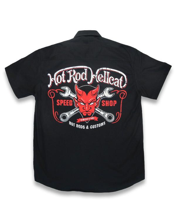 Devil hotrod hellcat worker shirt