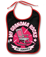 Grandma rocks six bunnies bib