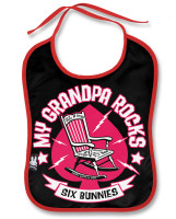Grandpa rocks six bunnies bib