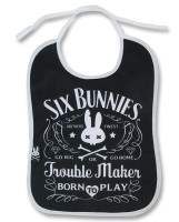 Trouble maker six bunnies bib
