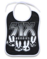 Rock group six bunnies bib