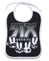 Rock group six bunnies bib