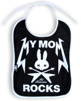Mom rocks - six bunnies bib