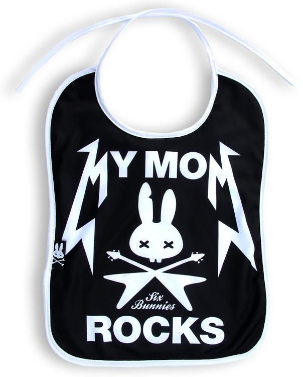 Mom rocks - six bunnies bib