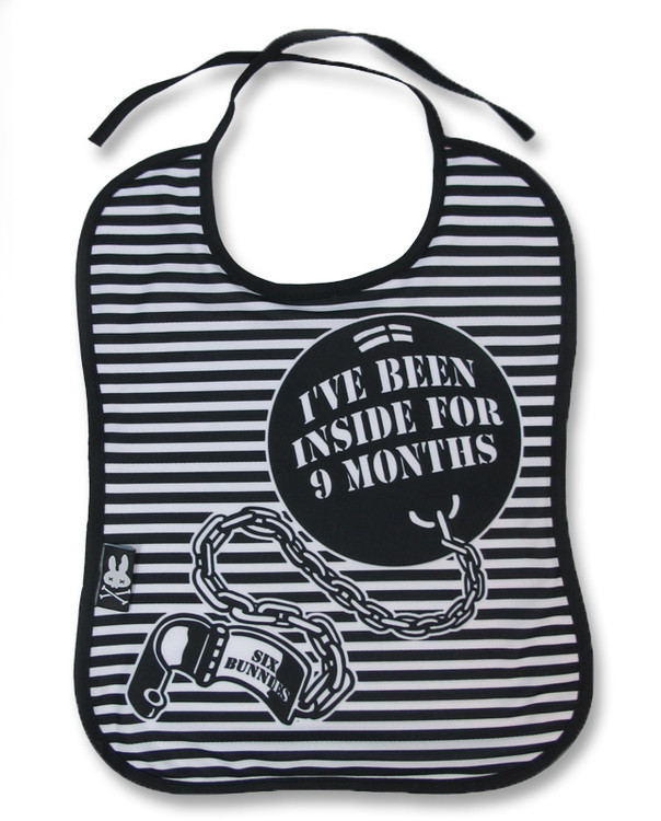 Ball 'N' chain six bunnies bib
