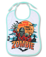 Zombie six bunnies bib