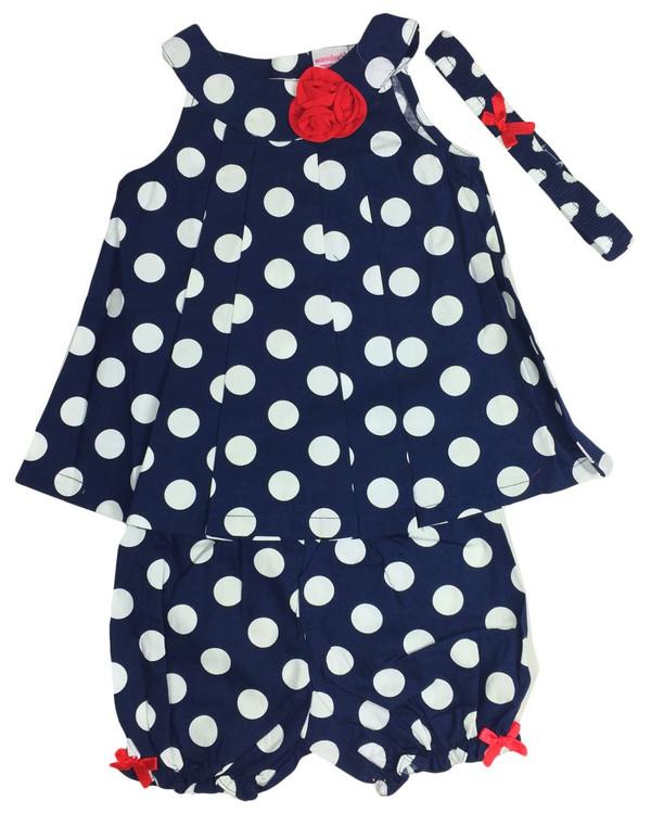 Baby kid set - blue dots