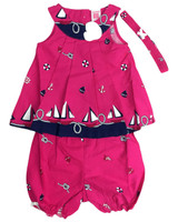 Baby kid set - magenta marine